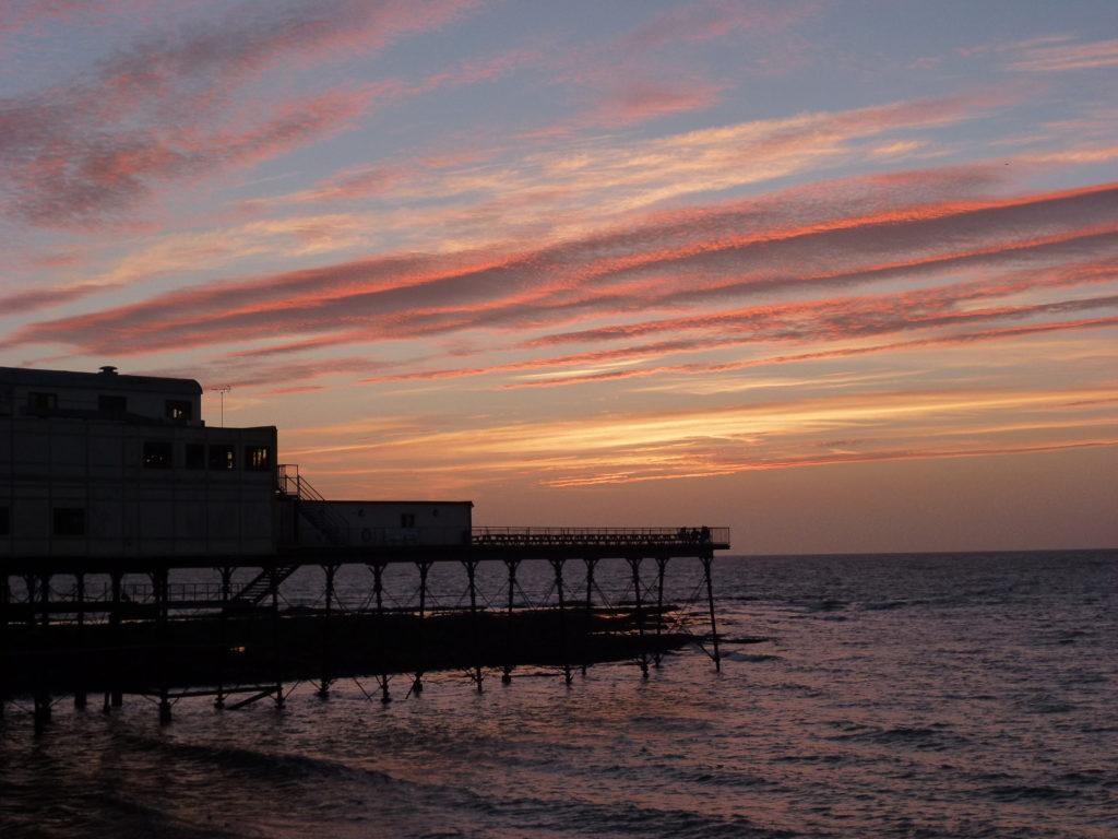 wales sunset pier aberystwyth
